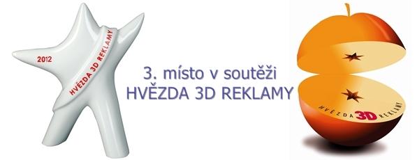 3. miesto v souťaži Hviezda 3D reklamy